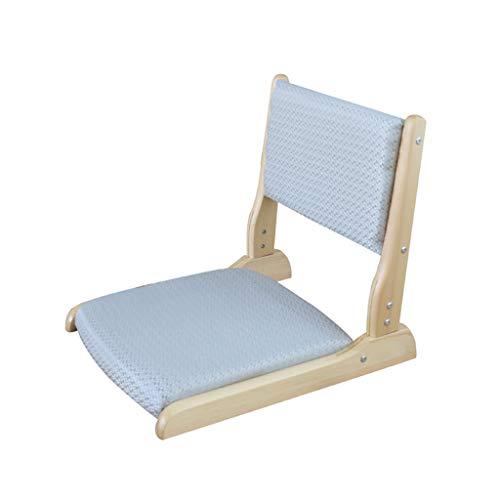 Chaise pliante chaise de sol coussin dossier dossier balcon salon (non amovible) (Couleur : B)