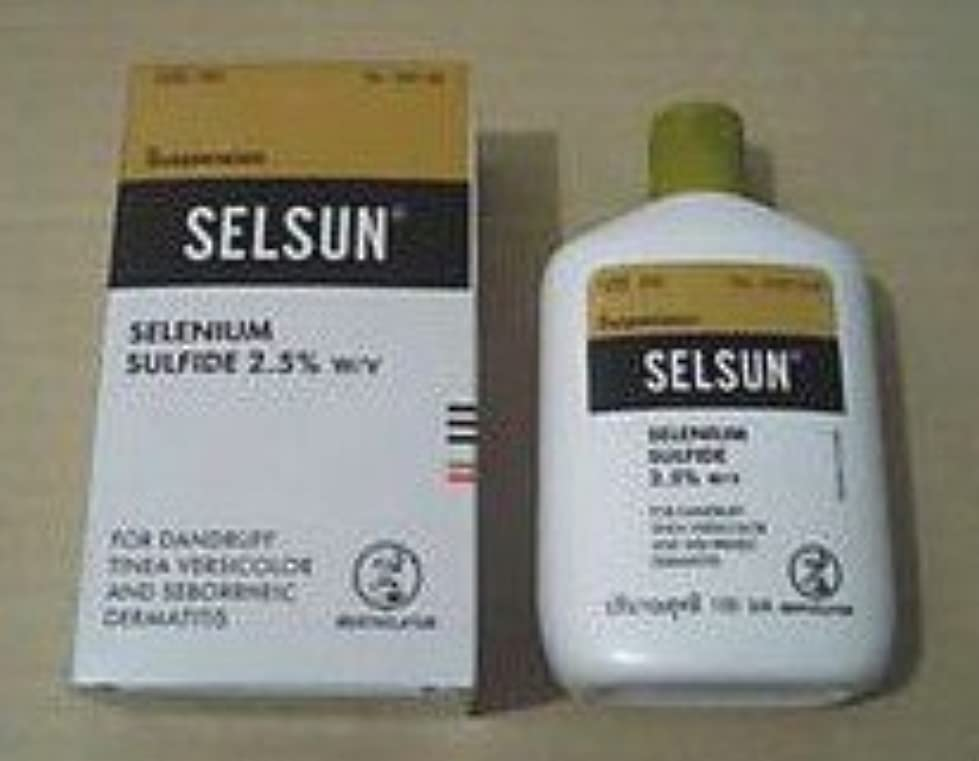 スイス人穿孔するいたずらなSELSUN Anti Dandruff Shampoo SELENIUM SULFIDE 2oz/60ml