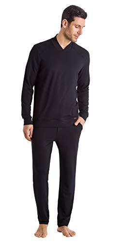 Hanro Herren Living Relax Pullover Pyjama-Oberteil (Top), schwarz, X-Large
