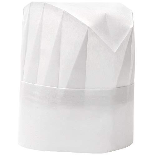 Einweg Kochmütze von Juvale (24 Stück) - Papier - Größenverstellbar - Ideal für Profis und Hobbyköche, Kochkurse, kulinarische Workshops - Hygiene in der Küche - Umfang 50,8 cm bis 55,9 cm