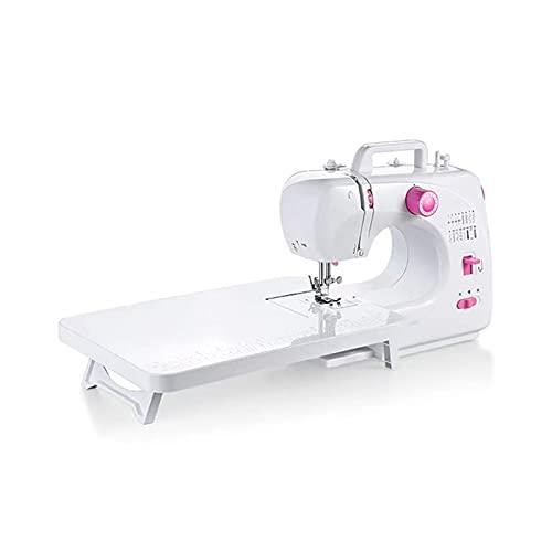 AWSAD Máquinas de Coser Máquina de Coser Portátil de Doble Velocidad con Función de Velocidad Variable para Niños Principiantes Uso de Viajes Domésticos de Bricolaje (Size : 30x12x24)