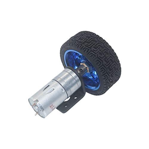 Motor de corriente continua Motores de engranajes de vehículos Robot Piezas de robot DC 6VOLT MOTORES ENDADADOS DE 65 MM Kit de ruedas de 65 mm 12RPM a 1360 RPM RPM MOTIGORES PARA EL COCHE DE JEGLE RO