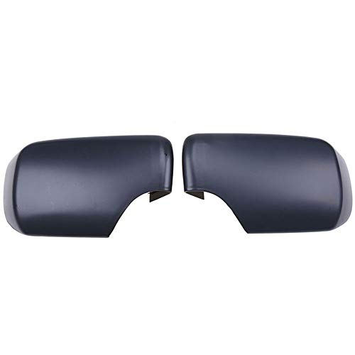 CHENGQIAN Espejo, Espejo Lateral De Coche Carcasa Retrovisor Espejo Cubierta Tapas para BMW 3 Series E46 Sedan 98-05 Conchas Exteriores Automáticas Negro