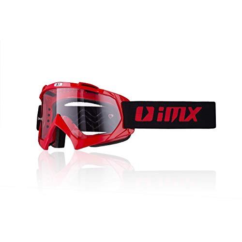 Gafas IMX Mud | Lente transparente | Correa con estampado de silicona | Espuma de tres capas | Incluye una lente | Motocross Enduro Mtb Downhill Freeride