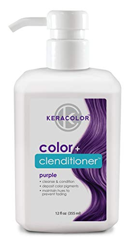 Keracolor Clenditioner Color Depositing Conditioner Colorwash, Purple, 12 fl oz