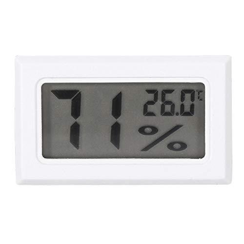 Igrometro Digitale Grande Schermo LCD Termometro di umidità per la Camera da Letto della Serra del Ministero degli Interni(White)