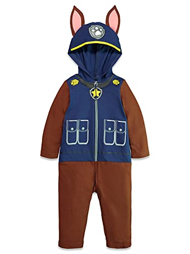 Nickelodeon Paw Patrol Marshall Boys' Hooded Costume Coverall (4T, Chase)