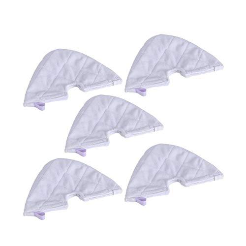 Wishful 5PCS Mop Pads de Remplacement Nettoyeur Vapeur Chiffons Fit for Shark S3501 / V19022 / S878 / S3550 / S3601 Série Steam Mop Et Aspirateur