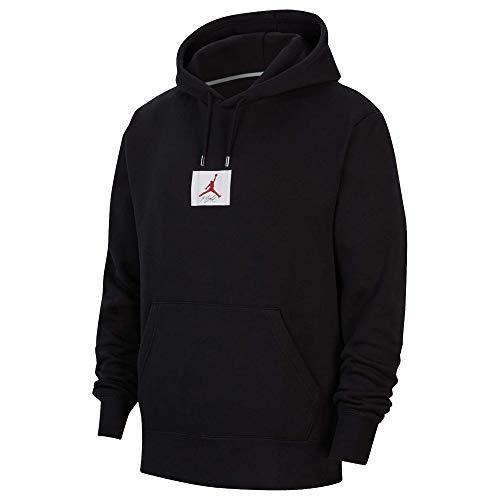 Nike Jordan Flight Men's Fleece Pullover Hoodie CV6146-010 Black (L)