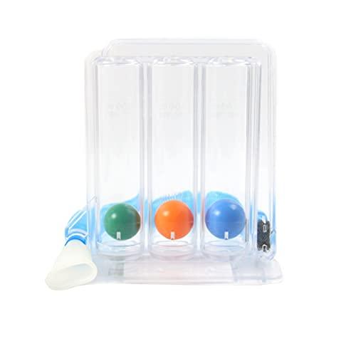 IWILCS Ejercitador respiratorio, Ejercitador pulmonar, Ejercicio de Respiración Pulmonar con Terapia de Ejercicios de Respiración de 3 Bolas para Problemas