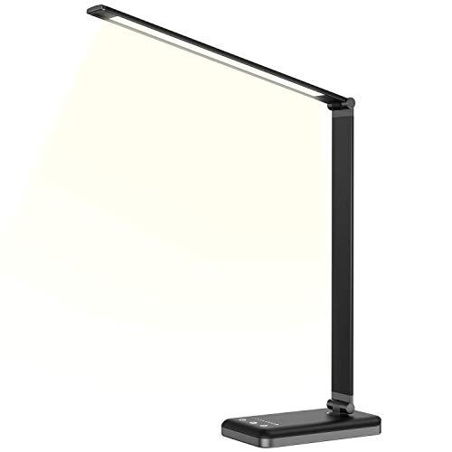 SSLL デスクライト LEDスタンドライト 卓上ライト タッチセンサー 多段階調光可能 省エネブラック