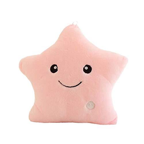 Odoukey El Brillar Creativa Forma de Estrella Felpa Almohadas, llevó la luz de la Noche, Luminoso Cojines, Peluche Juguetes de Peluche, Regalos para los niños, Decoraciones (sin incluir Las Pilas)