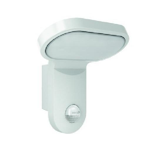 ESYLUX 4370622 LED-Leuchte 25 W mit Bewegungsmelder, 140 Grad, 5000 K, Aluminiumdruckguss und Kunststoff, AOL 200LED 5 K, weiß