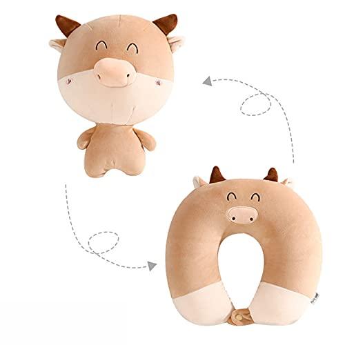 LLSL Almohada de deformación en Forma de U, Almohada de Viaje, Almohada de Cuello de Espuma de Memoria - Modelo de Dibujos Animados Lindo, Uso 2 en 1 - para Dormir/para niños Juguetes