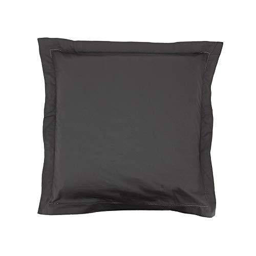 Taie d'oreiller Satin 65x65 Gris - Couleur: Gris