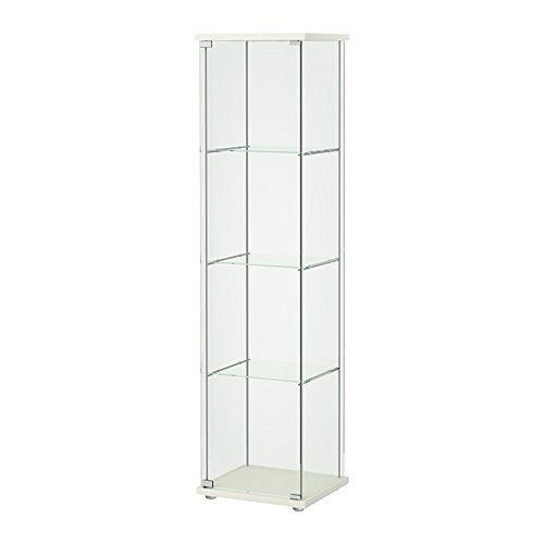 IKEA/イケア DETOLF/デトルフ ガラス扉キャビネット43x163 cm ホワイト 203.540.43