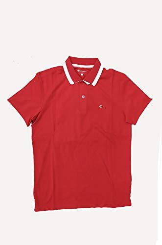 Champion Polo-Shirt für Herren, Herren, rot, Small