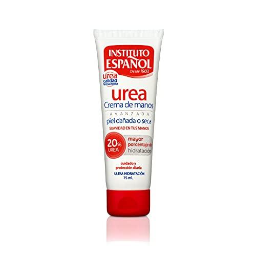 Instituto Español Crema de Manos con 20% Urea - Piel Dañada o Seca - 75 ML