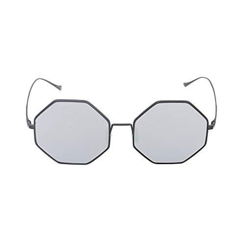 TYXL Sunglasses Gris Moda Masculina Y Femenina Moda Gafas De Sol Salvajes Gafas De Sol Poligonales Gafas