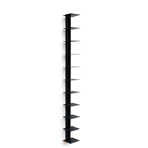Haseform Bücherturm 170 cm (für 1,80 m Bücher) anthrazit Bücherregal Wandregal