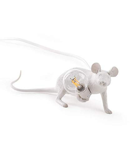 IJ INJUICY Resin Mouse Table Light, Creative Animal Desk Accent Lamp Bedside Gift Decoration Cartoon...
