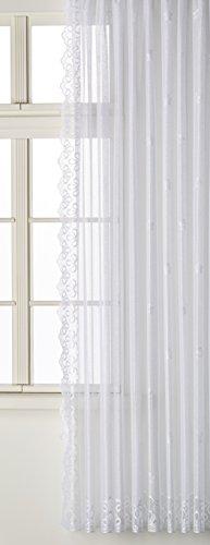 Anna Cortina 8863781S0Lato Sciarpa Jacquard, Tessuto Poliestere, Bianco, 250x175