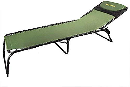 Tumbona plegable de jardín – Sillón reclinable portátil de doble uso simple con ángulo ajustable marco de acero para camping, picnic y playa