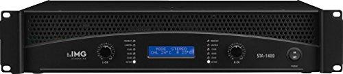 IMG STAGELINE STA-1400 Professionelle Stereo-PA-Verstärker mit integrierter Frequenzweiche und Limiter schwarz