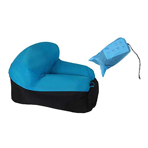 ZFY Muebles de Acampada de Tumbona Inflable rápido Camping Muebles de Camping Bolsa de Dormir Perezosa y Silla de Playa Cojín de Asiento en al Aire Libre (Color : Blue Chair)