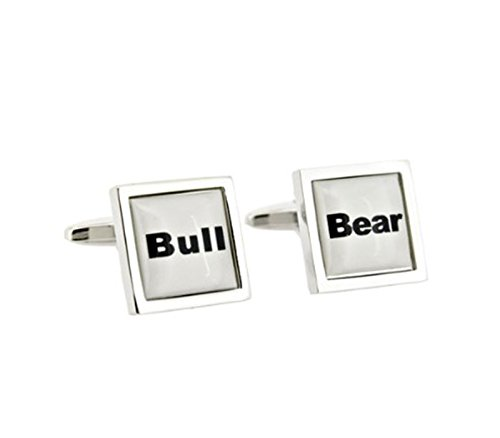 Bull Bear New Beasts des finances de boutons de manchette
