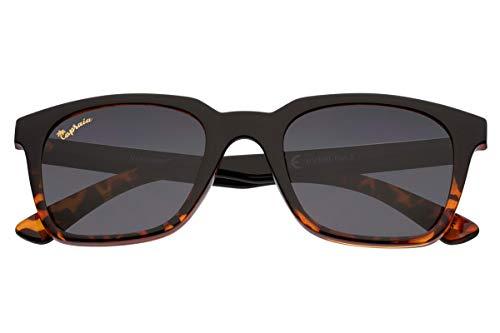 Capraia Vespolina Amplias Rectangulares Vintage Gafas de Sol Ultra Ligeras TR90 Black a Montura Tortuga y Lentes Oscuras Polarizadas protección UV400 Hombres Mujeres