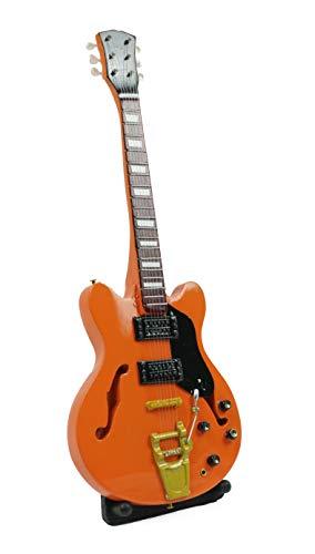 Miniatur Gitarre Deko Gitarre Guitar Gibson Es-335 VDS 26cm #128a orange