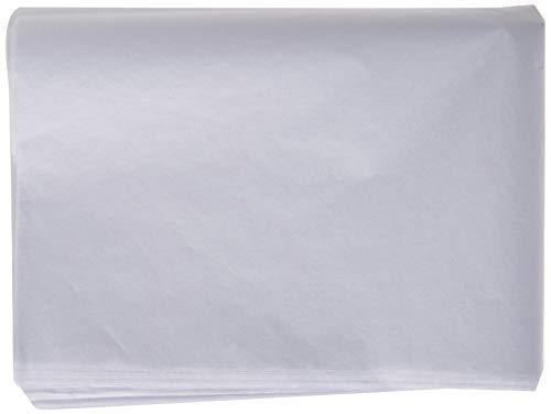 Creavvee 30 Hojas Decoupage-Papel de seda 50 x 70 cm, Blanco