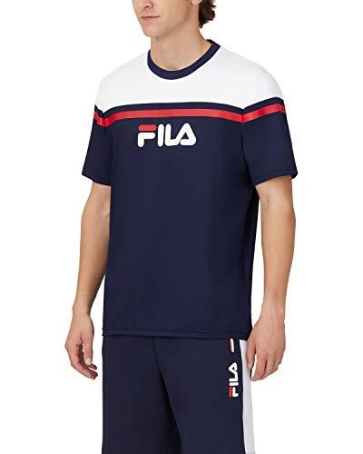 FILA Herren Zelic Short Sleeve Crew T-Shirt, Peacoat, XX-Large
