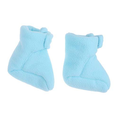 NUOBESTY Mini Botines de Lana de 12 cm para bebé Calcetines de Lana Polar para bebé Zapatos de Cuna de Tobillo de Invierno Primer Regalo de Ducha de cumpleaños Talla l Azul