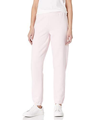 Hanes Women's EcoSmart Cinched Cuff Sweatpants, Pale Pink, Medium