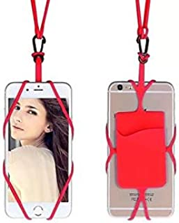 Margoun Universal Flexible Smart Phone Lanyard Strap Case Cover Compatible with iPhone 6/6s - Red