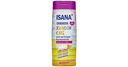 Isana Cremedusche Rainbow Cake duftet nach fluffigem Regenbogenkuchen Inhalt: 300ml Showergel
