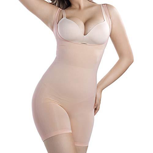 +MD Damen Shapewear Figurformender Formende Bodys Taillenformer Shaping Bodysuit Bodyshaper NudeL
