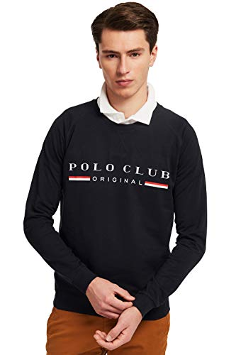 POLO CLUB Sudadera Title Color Azul Marino Logo A Contraste para Hombre