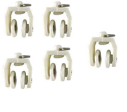 TOPWA Flexible biegsame gerade Gebogene vorhangschiene für l Form u Form erker duschvorhänge raumteiler DIY Montage zubehör (Gleiter)