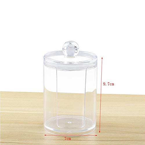 Mdsfe cosmetische wattenpad/wattenstaafjes opbergdoos sieraden opbergdoos multifunctionele ronde Qtip container cosmeticarek transparante Q-Tip Box - 2