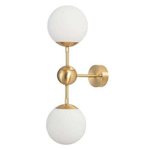 Smeedijzeren wandlamp, eenvoudige moderne glazen kogel-brecketlicht, woonkamer eetkamer slaapkamer Aisle Bar decoratieve wandlamp