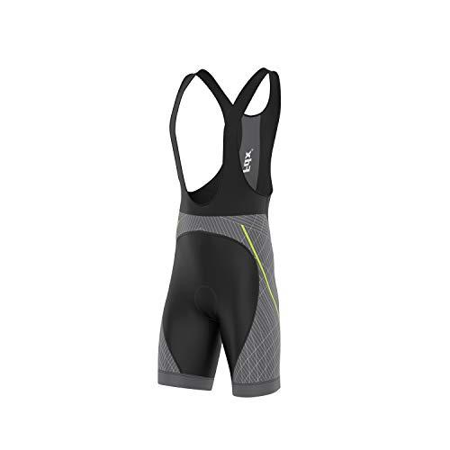 FDX Classic II - Pantalones cortos acolchados para ciclismo de carretera, Hombre, color plateado, tamaño medium