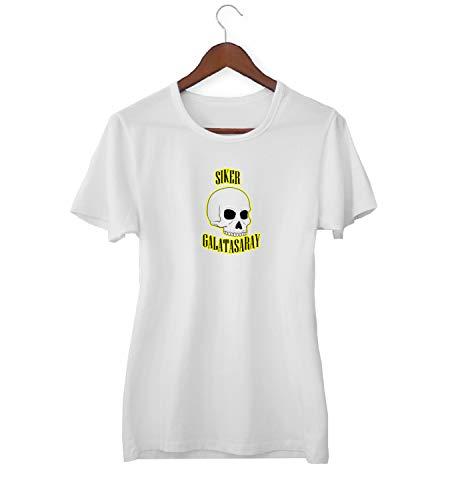 KLIMASALES Siker Skull Galatasaray Quote_KK020680 Shirt T-shirt voor Vrouwen - Wit