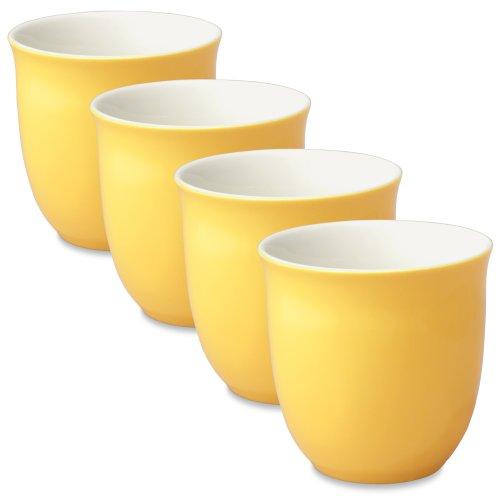 FORLIFE Japanese Teacup (Set of 4), 6.5 oz, Mandarin