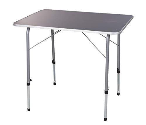 Spetebo Metall Klapptisch 80x60 cm - höhenverstellbar - Outdoor Camping Tisch Gartentisch stabil