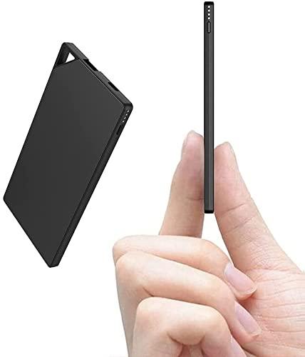 TNTOR モバイルバッテリー 軽量 小型 超薄 6mm 5000mAh スマホ充電器 持ち運び便利 iPhone&Android対応 地...