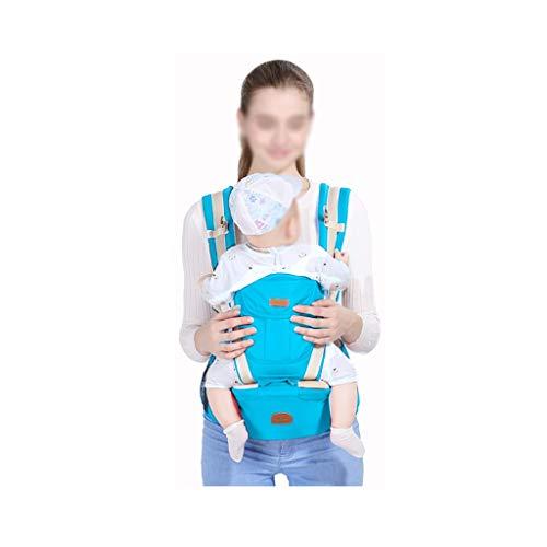 DYW 0-36 Mois Porte-bébé réglable Hanche siège Nouveau-né Taille Tabouret bébé Porte-bébé Infantile élingue Sac à Dos (Color : Sky Blue)