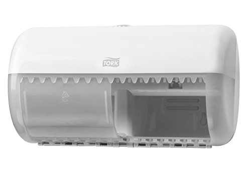 SCA Tork 557000 Spender für Kleinrollen Toilettenpapier, Weiß
